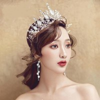 Large Handmade Crystal Tiaras Crown Rhinestone Diadem Cosplay