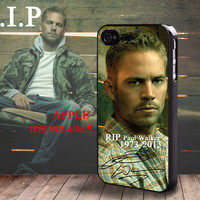 RIP Paul Walker 1973-2013 Autograph Signature iphone 4 4S case iphone 5 Case Fast & Furious