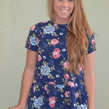 Pacific Coast Floral Print Top