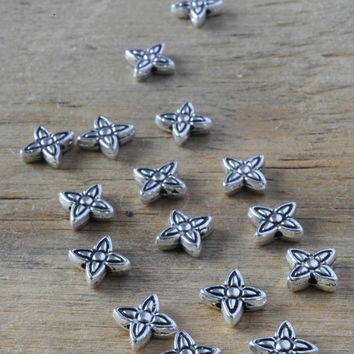 Celtic Flower Spacer Bead 10pc Jewellery Findings Jewellery Making diyforstyle