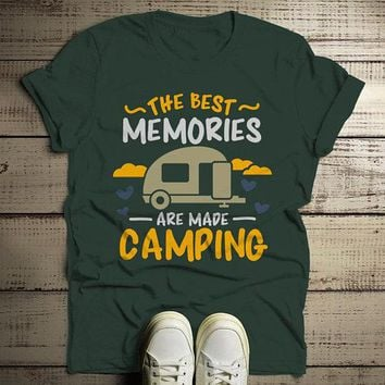 Men's Camping T Shirt Best Memories Made Shirts Camper Graphic Tee