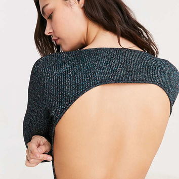 Out From Under Metallic Open Back Sweater Bodysuit - Urban Outfitters