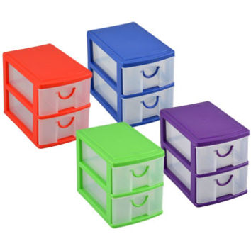 Bulk 2-Tiered Mini Organizers with Drawers at DollarTree.com