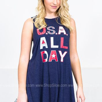 U.S.A All Day Dress | Jadelynn Brooke