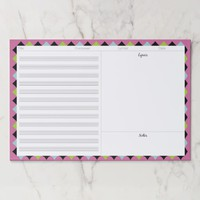 Songwriting Music Sheet & Lyric Any Color B/Ground Paper Pad
