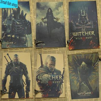 The Witcher Enhanced Edition Game Poster Home Furnishing decoration Kraft Game Poster Drawing core Wall stickers