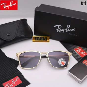 RayBan trend men and women driving driving color film large frame sunglasses #4