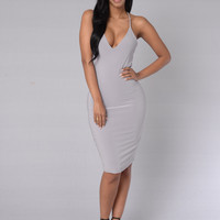 Lazy Love Dress - Lilac Grey