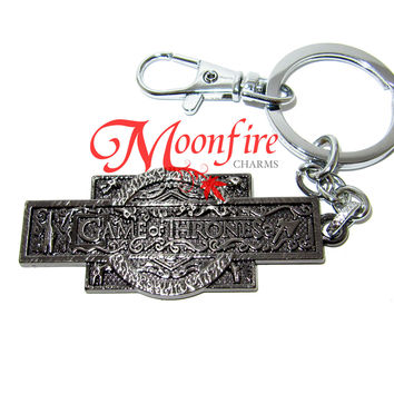 GAME OF THRONES Westeros Compass Logo Keychain