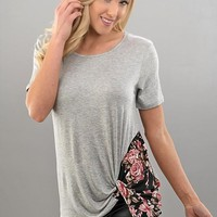 Peek Of Floral Top - 2 Options