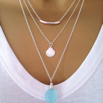 3 Sterling Silver Layering Necklaces