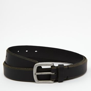 ASOS Leather Belt with Distressed Edges