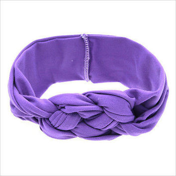 Baby Toddler Soft Girl Kid Hairband Turban Knitted Knot Cross Headband Headwear~