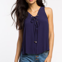 Clara Lace Up Blouse