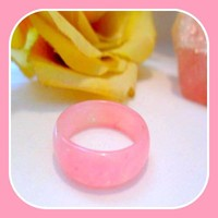 """Stone of Dreams"" Pink Jade Ring Size 9.5"