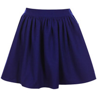 ROMWE | High Waist Pleated Blue Skirt, The Latest Street Fashion