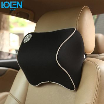 Car Headrest Seat Head Neck Rest Massage Memory Foam Cushion Support for 95% Cars Office Chair Quality Decoration Free Shipping