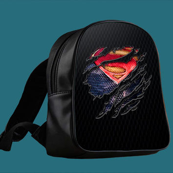 Clark kent Ripped Torn cloth for Backpack / Custom Bag / School Bag / Children Bag / Custom School Bag *