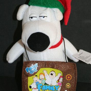 Licensed cool BRIAN Plush Dog Christmas Holiday Gift Card Holder Family GUY Holiday Stocking