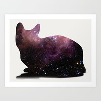 Willow the Galaxy Cat! Art Print by All Is One