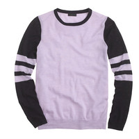 J.Crew Womens Collection Featherweight Cashmere Long-Sleeve Tee In Varsity Stripe