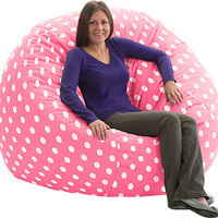 Drama Queen Pink Polka Dot Bean Bag