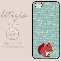 Red Squirrel iPhone Case, iPhone 4 Case, iPhone 4s Case, iPhone 5 Case, Plastic Case