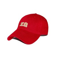 Chi Omega Needlepoint Hat in Red by Smathers & Branson
