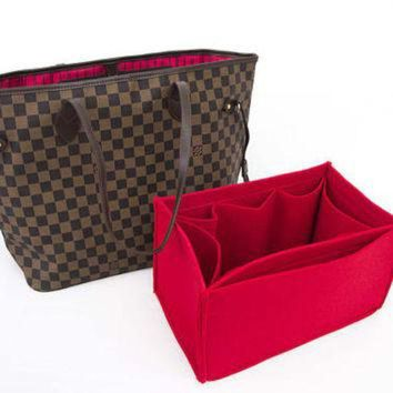 LMFON Tagre? For 'Louis Vuitton Bags' Purse insert bag organizer,felt bag insert organizer with Ipad placer / Color Option a
