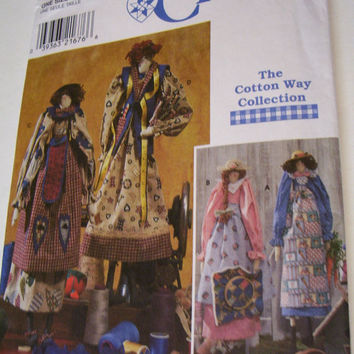 Simplicity Primitive  23 Inch Dolls And Clothes Patterns 8161