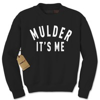 Mulder It's Me X-Files Adult Crewneck Sweatshirt