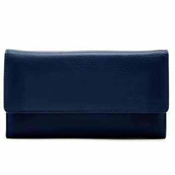 Trifold Clutch Wallet With Checkbook Cover