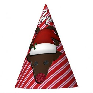 Mr. Rudolph Christmas PARTY HATS