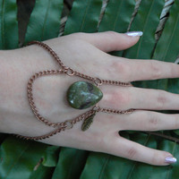 jasper slave bracelet  dragons blood jasper teardrop boho gypsy boho trible native american inspired style