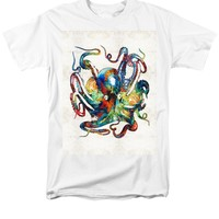 Colorful Octopus Art by Sharon Cummings T-Shirt