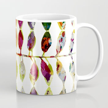 row of colored leaves Coffee Mug by clemm