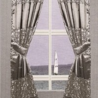 "Popular Bath ""Sinatra Silver"" Window Curtain"