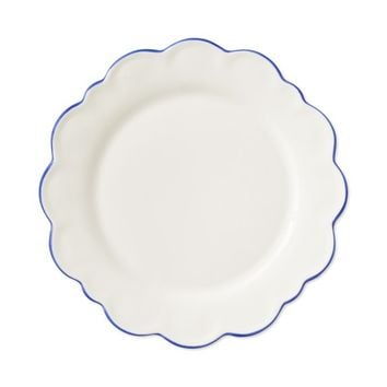 AERIN Scalloped Rim Salad Plates, Set of 4, Blue