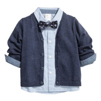 H&M Shirt, Bow Tie and Cardigan $29.99