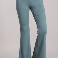 Classy and Sophisticated Flared Bell Pants Slate Blue