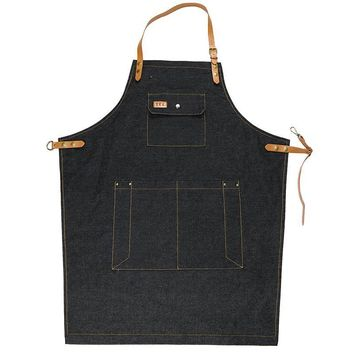 Adjustable Sleeveless Denim Restaurant Cafe Apron