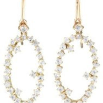 Suzanne Kalan Classic Starburst Collection 14k Sapphire Drop Earring