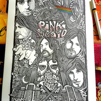 Pink Floyd Poster Letterpress Print by Posterography