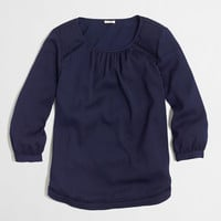 Factory three-quarter sleeve blouse with cutout details : Blouses & Tees | J.Crew Factory