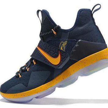 2018 Fashion Cavs Color Cleveland Lebron 14 XIV Navy Gold Brand sneaker