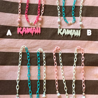 Kawaii creepy cute soft grunge fairy kei pop kei pastel goth harajuku fashion necklace