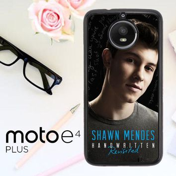Shawn Mendes Handwritten Revisited X3393 Motorola Moto E4 Plus Case