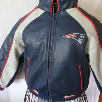 Just Like Dad NFL Patriots Jacket Boys sz L 7 Vintage Football Clothing New England Patriots Vintage NFL Logo