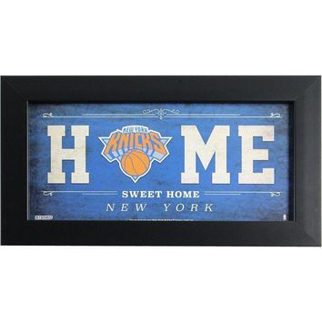 MDIGMS9 New York Knicks 6x12 Home Sweet Home Sign