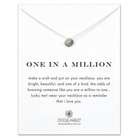 Dogeared 'One In a Million' Sterling Silver Pendant Necklace